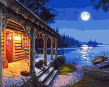 Load image into Gallery viewer, Darrell Bush Moonlight Lodge Painting Kit