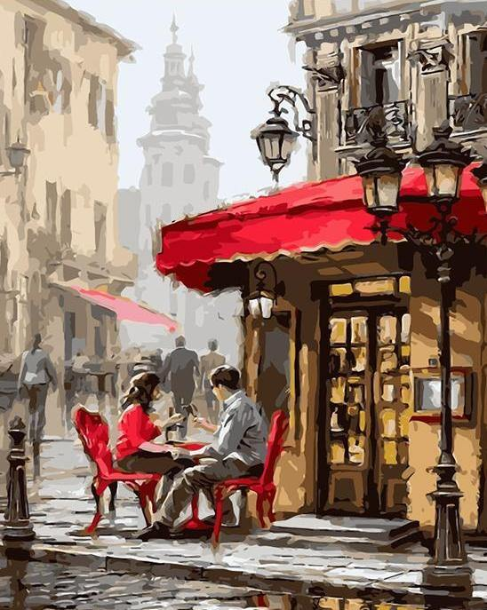 Date in a Cafe Paint by Numbers