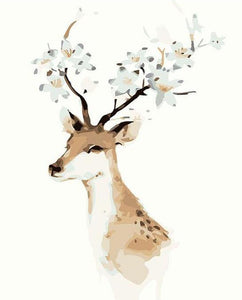 Fantasy Deer Antlers Paint by Numbers