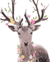 Load image into Gallery viewer, Deer & Flowers Paint by Numbers