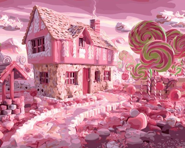 Candy House Paint by Numbers