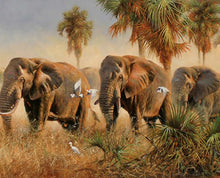 Load image into Gallery viewer, Elephant Family Paint by Numbers