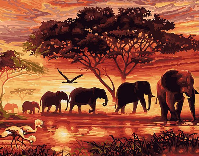 Elephant Paint by Numbers