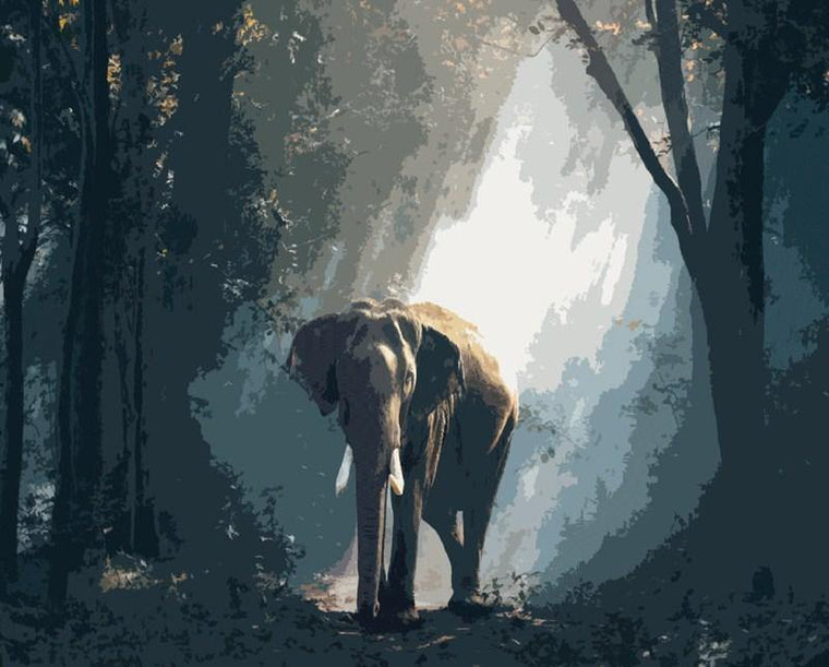 Elephant in the Forest Painting Kit