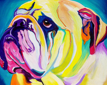 Load image into Gallery viewer, English Bulldog Paint by Numbers