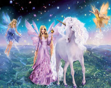 Load image into Gallery viewer, Fairies & Unicorn Paint by Numbers