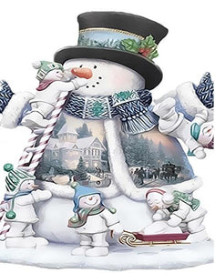 Fantasized Snowman Paint by Numbers