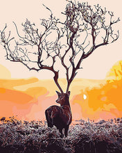 Load image into Gallery viewer, Stag Antlers Tree Paint by Numbers