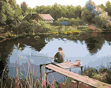 Load image into Gallery viewer, Fishing Man Paint by Numbers