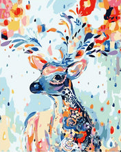 Load image into Gallery viewer, Floral Deer Paint by Numbers