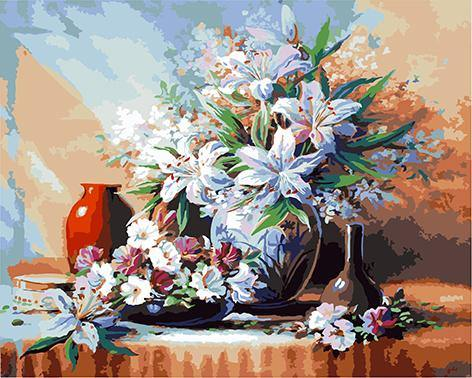 Floral Still Life Paint by Numbers