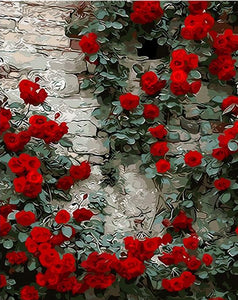 Rose Wall Paint by Numbers