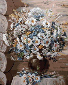 Daisies in Flowerpot Paint by Numbers