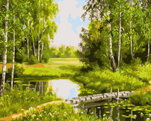 Load image into Gallery viewer, Forest Paint by Numbers Kit