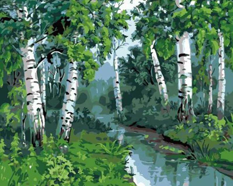 Forest Trees Paint by Numbers