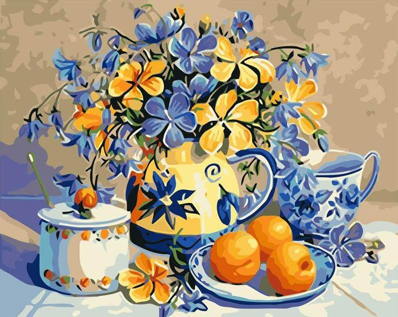 Fruits Plate Paint by Numbers
