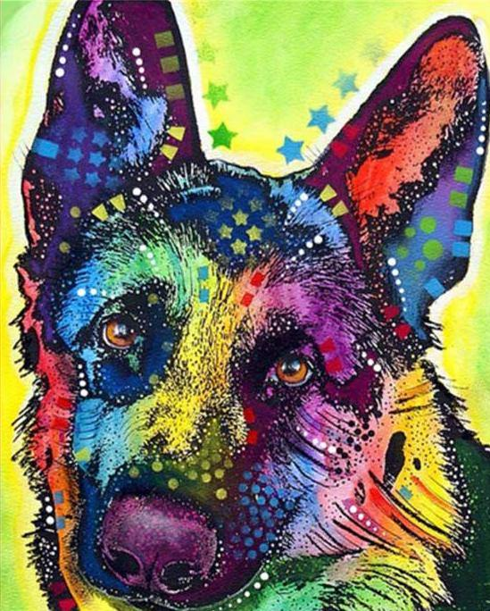 German Shepherd Paint by Numbers