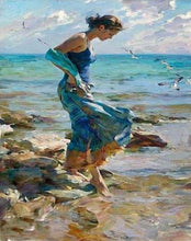 Load image into Gallery viewer, Girl at the Beach Painting by Numbers