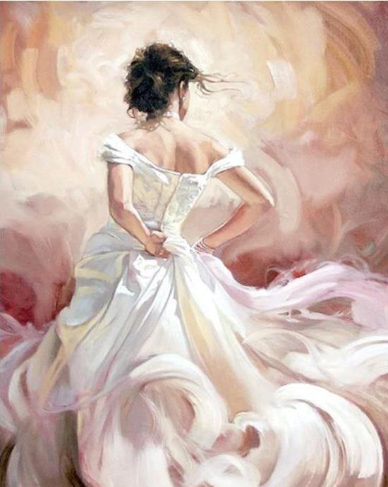 Gorgeous Bride Painting by Numbers