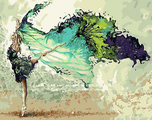 Dancing Girl Paint by Numbers
