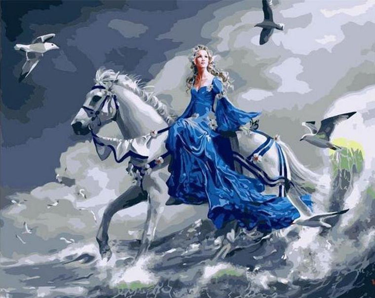 Lady & Horse Paint by Numbers