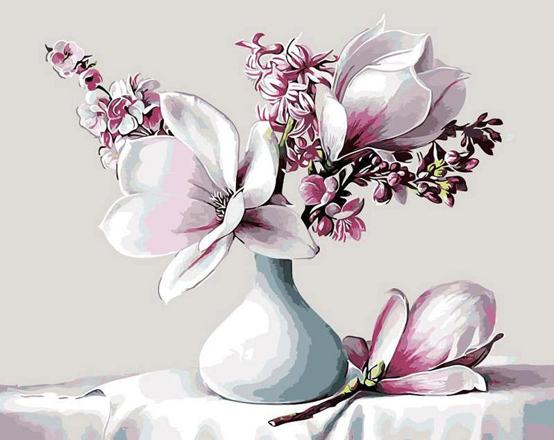 Gorgeous Magnolia Paint by Numbers