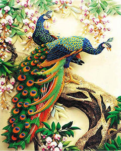 Gorgeous  Peacocks Paint by Numbers