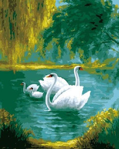 Gorgeous Swans Family Painting Kit