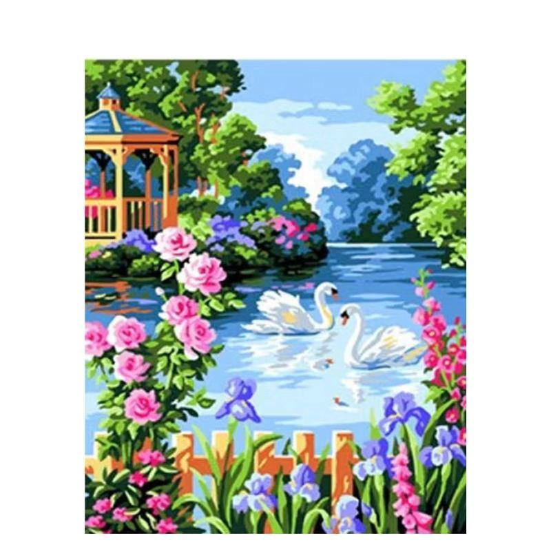Gorgeous Swans & Flowers Painting Kit