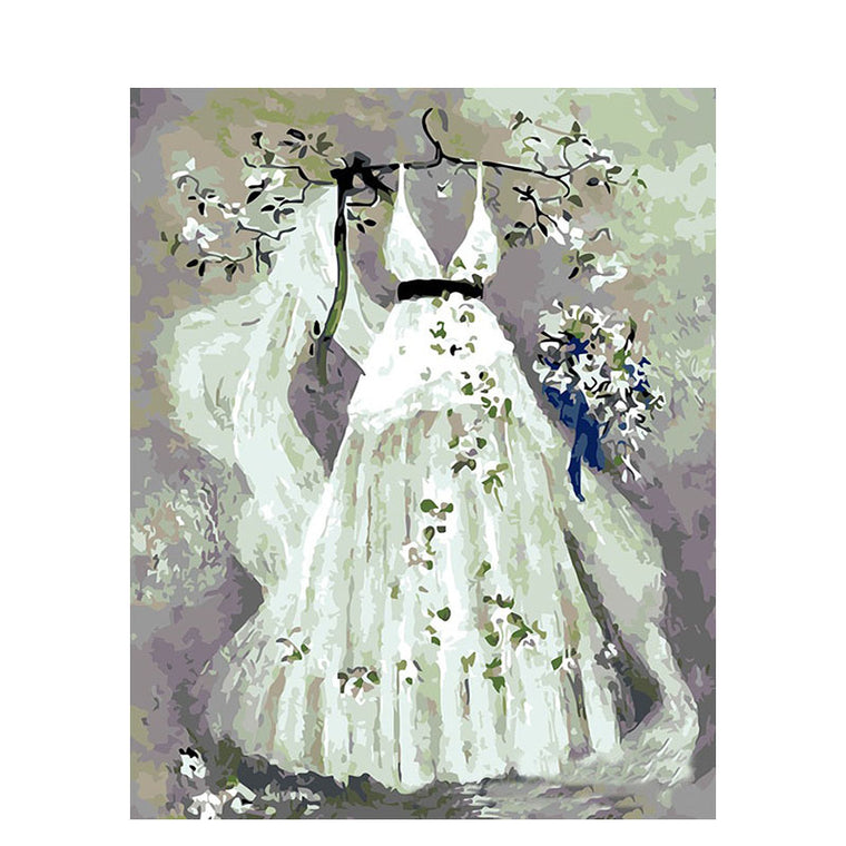 Gorgeous Wedding Dress Paint by Numbers