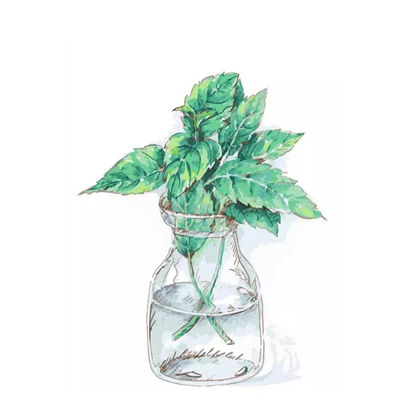 Green Plant Paint by Numbers
