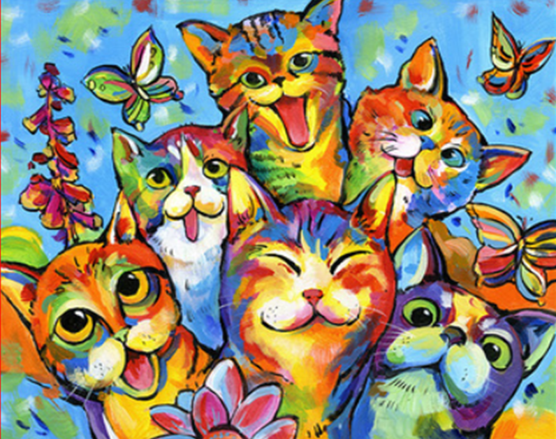 Funny Cats Paint by Numbers