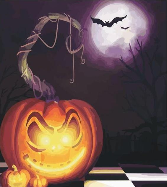 Halloween Night Paint by Numbers