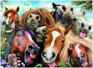 Happy Horses Paint by Numbers
