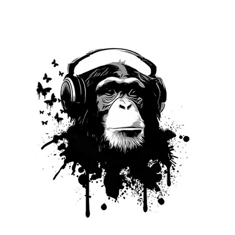 Headphones Monkey Paint by Numbers