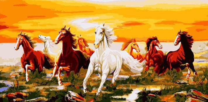 Herd of Horses Paint by Numbers