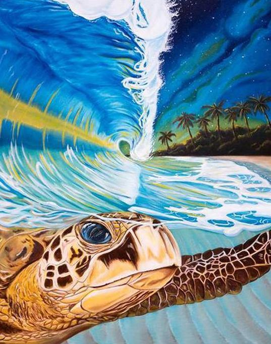 Swimming Turtle Paint by Numbers