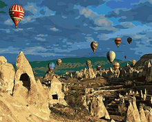 Load image into Gallery viewer, Hot Air Balloons Painting by Numbers