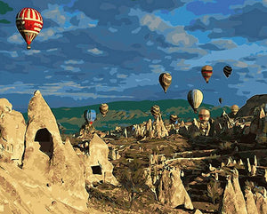 Hot Air Balloons Painting by Numbers