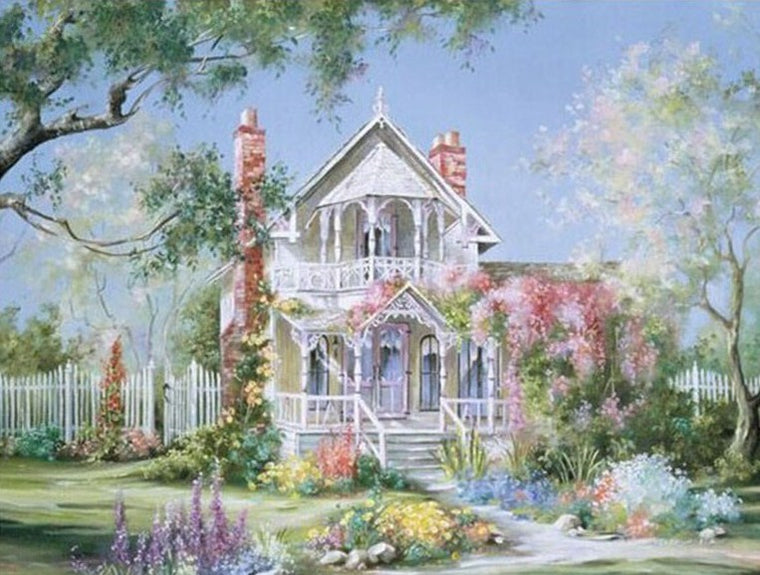 Floral House Paint by Numbers