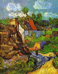 Houses at Auvers Paint by Numbers