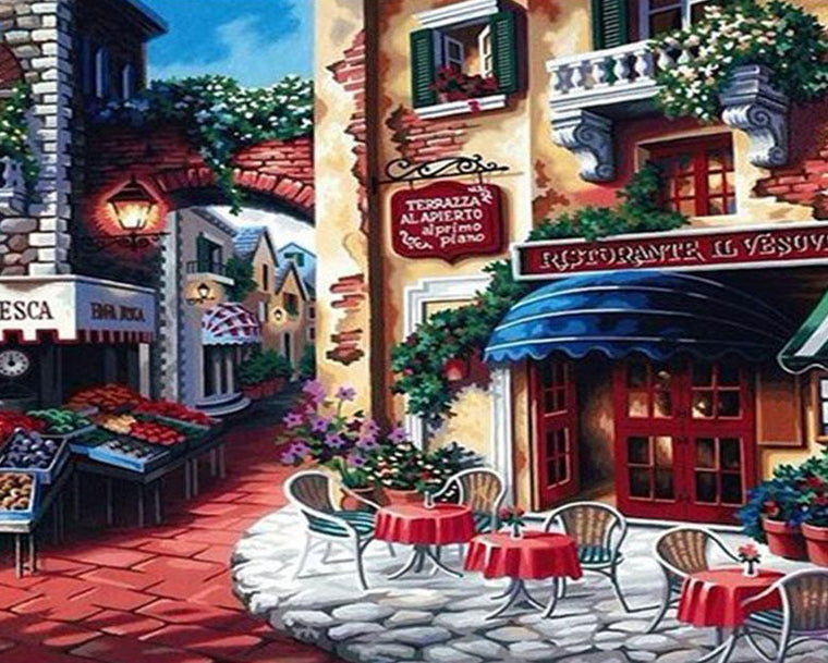 Italian Coffee Shop Paint by Numbers