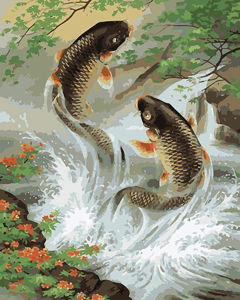 Fish Pair Paint by Numbers