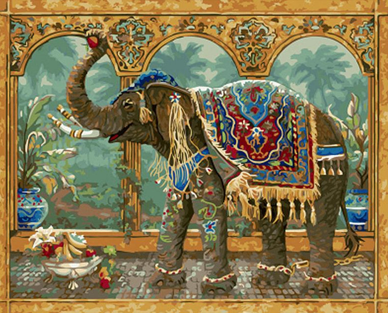 King's Elephant Paint by Numbers