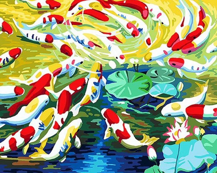 Koi Fish Paint by Numbers
