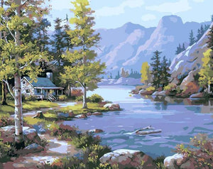 Lake & Mountains Paint by Numbers