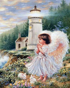 Angel Praying Paint by Numbers