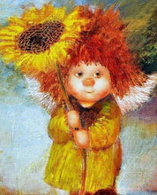 Load image into Gallery viewer, Fairy & Sunflower Paint by Numbers