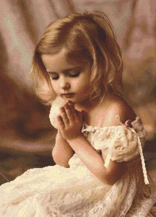Little Girl Praying Paint by Numbers