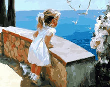 Load image into Gallery viewer, Little Girl at  Seaside DIY Painting Kit